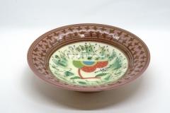 色絵釉彩皿